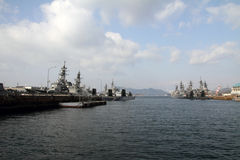Naval port in Kure Stock Photo