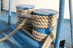 Naval rope on coils Stock Photography
