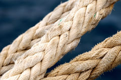 A Naval Rope on a Pier Stock Photography