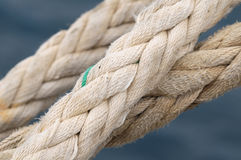 A Naval Rope on a Pier Royalty Free Stock Image