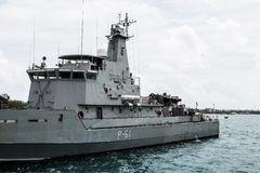 Naval Ship in Bahamas Royalty Free Stock Photos