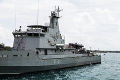 Naval Ship in Bahamas Royalty Free Stock Photos