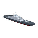 Naval ship. With black color Stock Photography