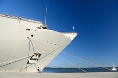 Naval ship docked Royalty Free Stock Photography