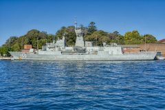 Naval Ship in Sydney Harbor royalty free stock photography