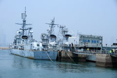 Naval ships and boats; naval craft; naval vessels Royalty Free Stock Photo