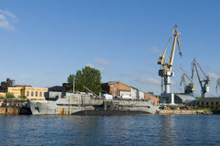 Naval shipyard Saint Petersburg Stock Photography