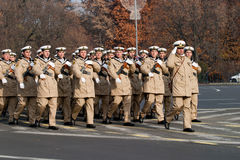 Naval troop. The naval troop battalion at 1st December parade in 2012 Royalty Free Stock Photos