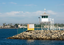 Naval Watch Tower. Seal Beach Naval Weapons Station security watch tower Royalty Free Stock Photos