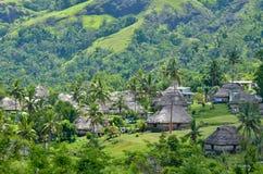 Navala村庄斐济鸟瞰图  免版税库存图片
