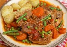 羊羔炖煮的食物晚餐Navarin  免版税库存照片
