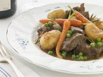 Navarin des légumes d'agneau et de chéri de source Images stock