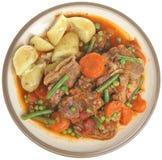 Navarin des Lamms Stew Plate Isolated Lizenzfreies Stockbild