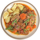 Navarin of Lamb Stew Plate Isolated Royalty Free Stock Image