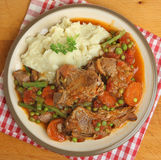 Navarin of Lamb Stew on Plate Stock Photo
