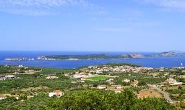 Navarino bay in Messinia Peloponnese Greece Royalty Free Stock Photo