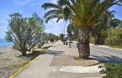 Navarinou road at Kalamata Peloponnese Greece Stock Images