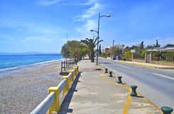 Navarinou road and Verga beach Kalamata Greece Royalty Free Stock Photo