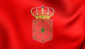 Navarra,西班牙旗子  库存图片