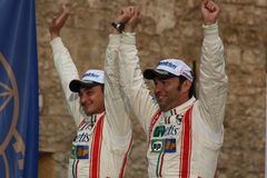 Navarra and D'Amore win Rally Stock Photography