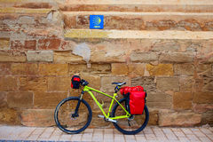 Navarrete bike The Way of Saint James La Rioja Stock Images