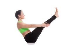 Navasana yoga Pose Stock Photography