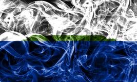 Navassa Island smoke flag, United States dependent territory fla. G Royalty Free Stock Photos