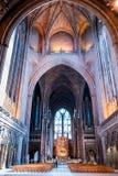 Navata centrale e l'altare della cattedrale dell'anglicano di Liverpool Fotografia Stock