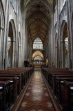 Navata centrale, st Mary Redcliffe Church, Bristol, Regno Unito fotografia stock libera da diritti