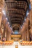 Navata della cattedrale di Manchester Immagine Stock