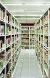 Navata laterale cinese delle biblioteche Fotografie Stock Libere da Diritti