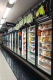 Navata laterale congelata dell'alimento Fotografie Stock
