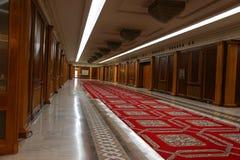 Navata laterale dell'interno della sede del parlamento Fotografia Stock Libera da Diritti