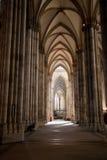 Navata laterale della cattedrale di Colonia Fotografie Stock Libere da Diritti