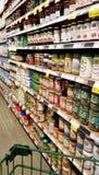 Navata laterale della drogheria di Whole Foods Fotografie Stock Libere da Diritti