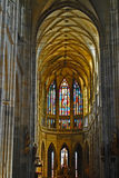 Nave. Main nave of the gothic cathedral of st. vito Royalty Free Stock Image