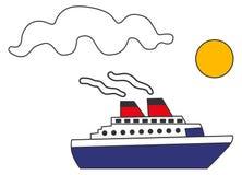 Nave Illustrazione di Stock