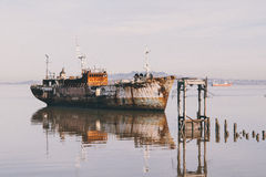 Nave abbandonata a Montevideo Fotografia Stock Libera da Diritti