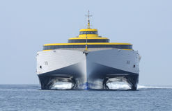Nave ad alta velocità del traghetto Fotografia Stock