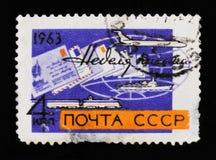 Nave, aereo e treno, settimana di A della lettera, circa 1963 Fotografia Stock Libera da Diritti