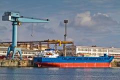 Nave al cantiere navale Fotografie Stock Libere da Diritti