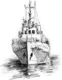 Nave all'ancoraggio illustrazione vettoriale
