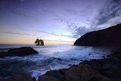 Nave alta al crepuscolo Fotografie Stock
