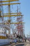 Nave alta ancorata Fotografie Stock Libere da Diritti
