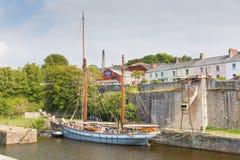Nave alta Charlestown St Austell Cornovaglia Inghilterra Regno Unito di estate Fotografia Stock