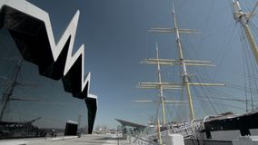 Nave alta di Glenlee e di Glasgow Transport Museum archivi video