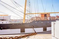 Nave alta Glenlee dal museo della riva del fiume, Glasgow Museum di trasporto Fotografia Stock