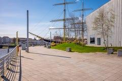 Nave alta Glenlee dal museo della riva del fiume, Glasgow Museum di trasporto Immagine Stock Libera da Diritti
