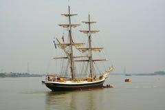 Nave alta Morgenster en el río Támesis Reino Unido Imagenes de archivo