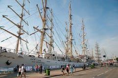 Nave alta polaca de Dar Mlodziezy Imagenes de archivo